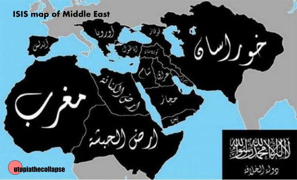 ISIS Map of Middle East
