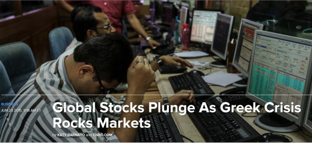 Stock Markets Plunge