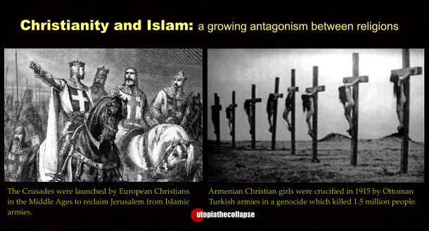 war in christianity and islam essay Chart showing major similarities and differences between the major abrahamic religions of christianity, islam, and judaism.