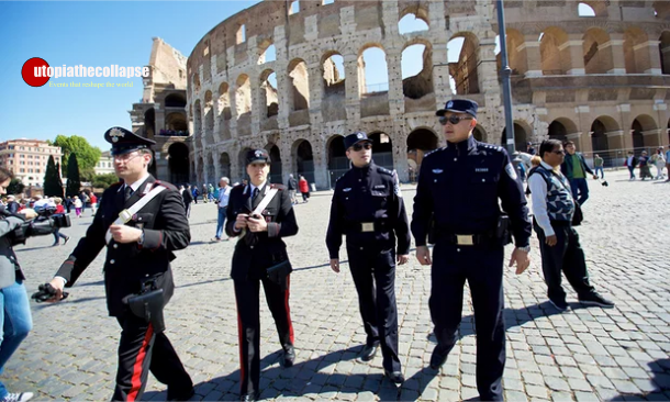 Chinese Police Rome